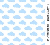 clouds vector seamless pattern... | Shutterstock .eps vector #1006922947