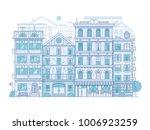monochrome europe city street... | Shutterstock .eps vector #1006923259