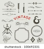 a collection of vintage  vector ... | Shutterstock .eps vector #100692331