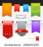 a collection of bookmarks ... | Shutterstock .eps vector #100692355