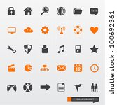 simple   clean icon set  ... | Shutterstock .eps vector #100692361