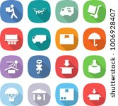 flat vector icon set   courier... | Shutterstock .eps vector #1006928407