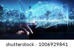 businessman using digital x ray ... | Shutterstock . vector #1006929841