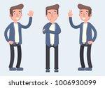 set of character bearded man... | Shutterstock .eps vector #1006930099