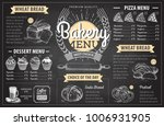 vintage chalk drawing bakery... | Shutterstock .eps vector #1006931905