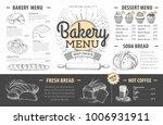 vintage bakery menu design.... | Shutterstock .eps vector #1006931911