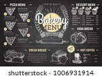 vintage chalk drawing bakery... | Shutterstock .eps vector #1006931914