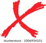 brush character x mark.eps this ... | Shutterstock .eps vector #1006934101