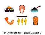 fish food icon set. flat set of ... | Shutterstock .eps vector #1006935859