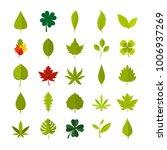 leaf icon set. flat set of leaf ... | Shutterstock .eps vector #1006937269