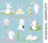 a set of eight cute and funny... | Shutterstock .eps vector #1006941379