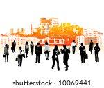 illustration of business people | Shutterstock .eps vector #10069441