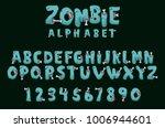 zombie alphabet vector...   Shutterstock .eps vector #1006944601