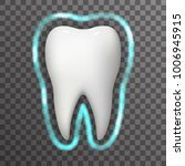 tooth protection glow field... | Shutterstock .eps vector #1006945915