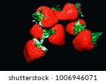close up red strawberry fruits... | Shutterstock . vector #1006946071