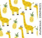 cute print with giraffe | Shutterstock .eps vector #1006946221