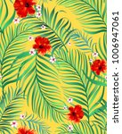 seamless hand drawn exotic... | Shutterstock .eps vector #1006947061
