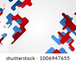 abstract minimal tech geometric ... | Shutterstock .eps vector #1006947655