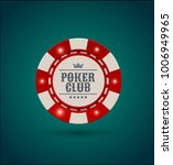 vector red white casino poker... | Shutterstock .eps vector #1006949965