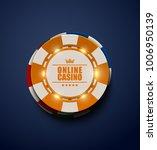 vector yellow casino poker... | Shutterstock .eps vector #1006950139