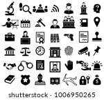 justice and legal sign icon set | Shutterstock .eps vector #1006950265