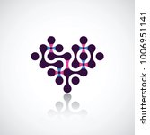 heart from the  connected... | Shutterstock .eps vector #1006951141