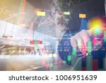 stock market digital graph... | Shutterstock . vector #1006951639
