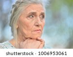 sad senior beautiful   woman  | Shutterstock . vector #1006953061