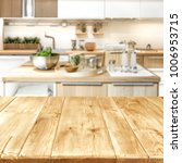 desk in kitchen and free space... | Shutterstock . vector #1006953715