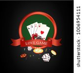 illustration of love game with... | Shutterstock . vector #1006954111