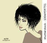 art sketched portrait of ... | Shutterstock .eps vector #1006959751