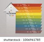 10 steps of arrow infografics... | Shutterstock .eps vector #1006961785