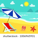 summer time in beach sea shore... | Shutterstock .eps vector #1006965931