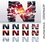 a vector letters set of a... | Shutterstock .eps vector #100696639