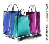 art digital acrylic and... | Shutterstock . vector #1006967605