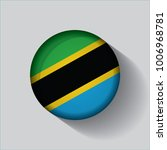 button flag of tanzania in a... | Shutterstock .eps vector #1006968781