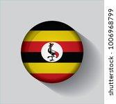 button flag of uganda in a... | Shutterstock .eps vector #1006968799