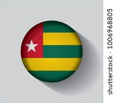 button flag of togo in a round... | Shutterstock .eps vector #1006968805