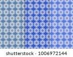 blue floral ornaments. set of... | Shutterstock .eps vector #1006972144