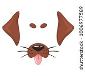 vector cartoon style cute dog... | Shutterstock .eps vector #1006977589
