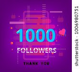 1k followers thank you phrase... | Shutterstock .eps vector #1006980751