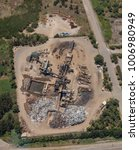 Small photo of An aerial view of a metal recycling facility in Australia.