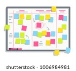 process planning board with... | Shutterstock .eps vector #1006984981