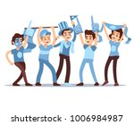 cheering sports fans vector... | Shutterstock .eps vector #1006984987