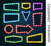 vintage movie theater light...   Shutterstock .eps vector #1006985011