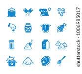 salt silhouette vector icons... | Shutterstock .eps vector #1006985017