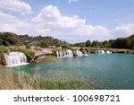 ruidera natural park located in ... | Shutterstock . vector #100698721