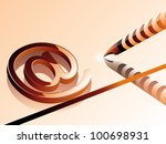 at symbol with computer pen. | Shutterstock .eps vector #100698931