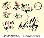 vector i love you text overlays ... | Shutterstock .eps vector #1006989421