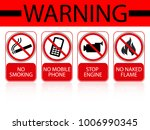 warning sign for gas and... | Shutterstock .eps vector #1006990345